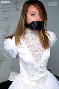 Penis-Gagged in Bridal Bondage