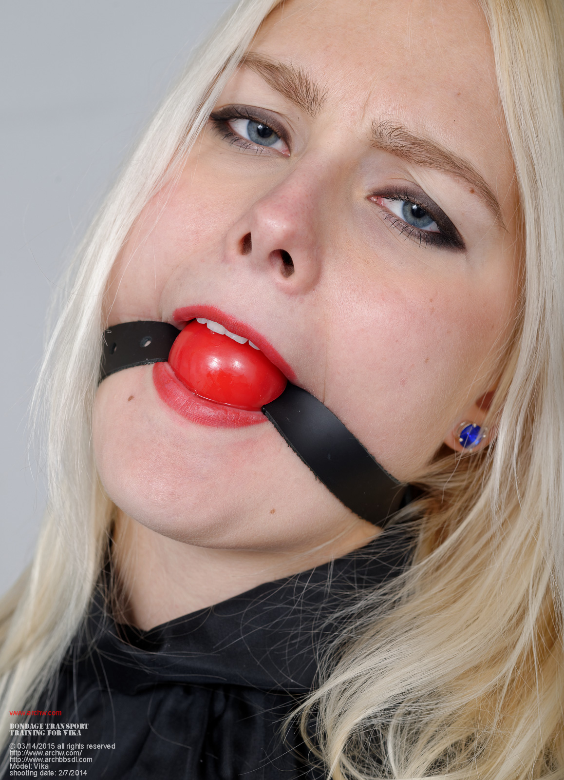 Happens. Girl latex ball gag bondage