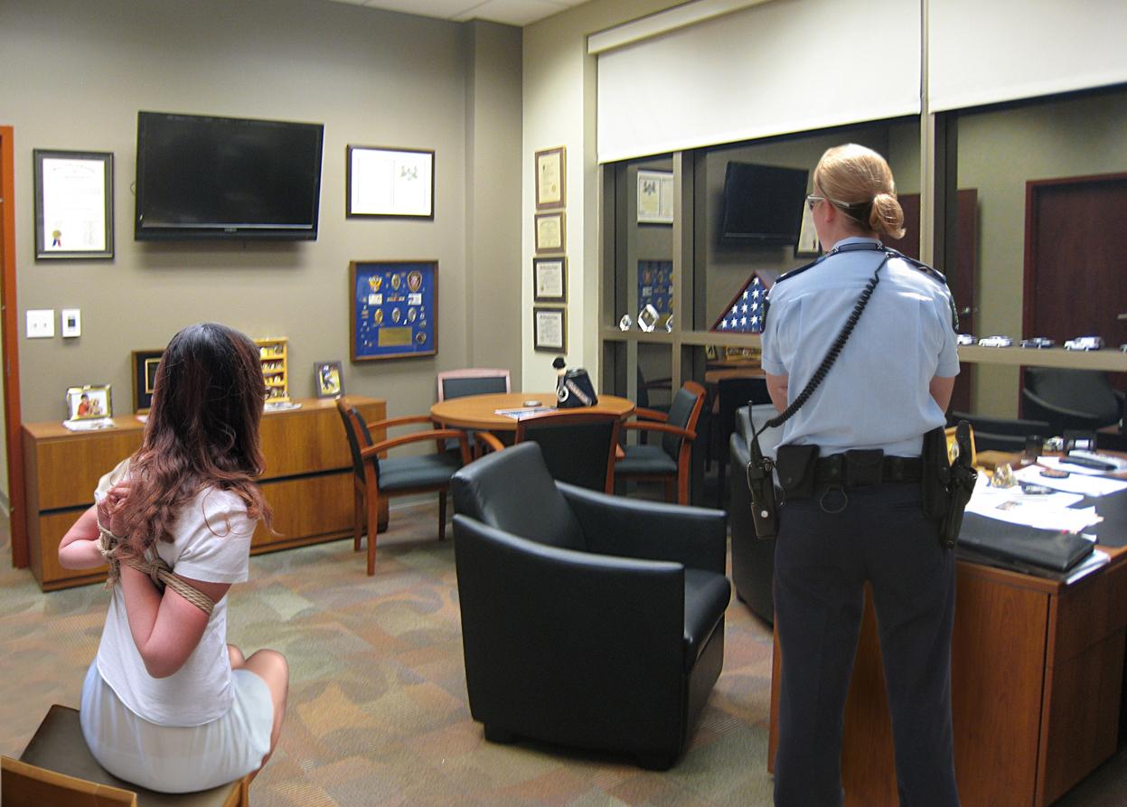 awaiting interrogation