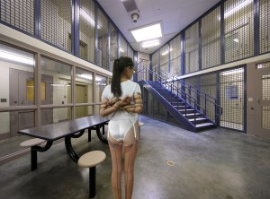 prisoner visited by her Boyfriend in Moot Prison