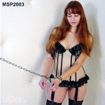Detained as a chained corseted prisoner