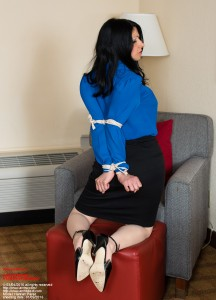 In the hands of a competent marshal, even women in dominant blouses find that they will be tightly tied and that their elbows will be tied behind their back