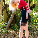 Dungeon Girls 6 - Vika is roped up in a harness for the afternoon