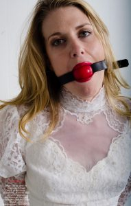 "A product of Archives BBS www.archw.com - debtor Jillian as exceeded the allowable debt for a female her type - she has been served her warrant and has been taken into bondage for subsequent auction to satisfy her debts. ""Female Debtor in Bondage"""