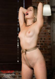 Vika in Cruel Bondage - Ouch! That crotch rope is tight!