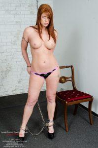 Angela Orlando, handcuffed, nude