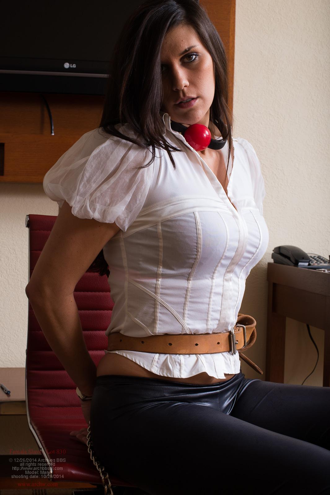 Tight blouse bondage