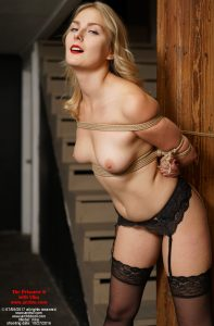 """Topless Vika in a takate kote from """"The Prisoner 6 with Vika"""""""