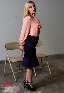 Brianne Blue - business wear - handcuffed