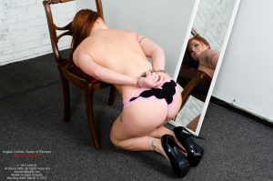 Angela Orlando, handcuffed for caning