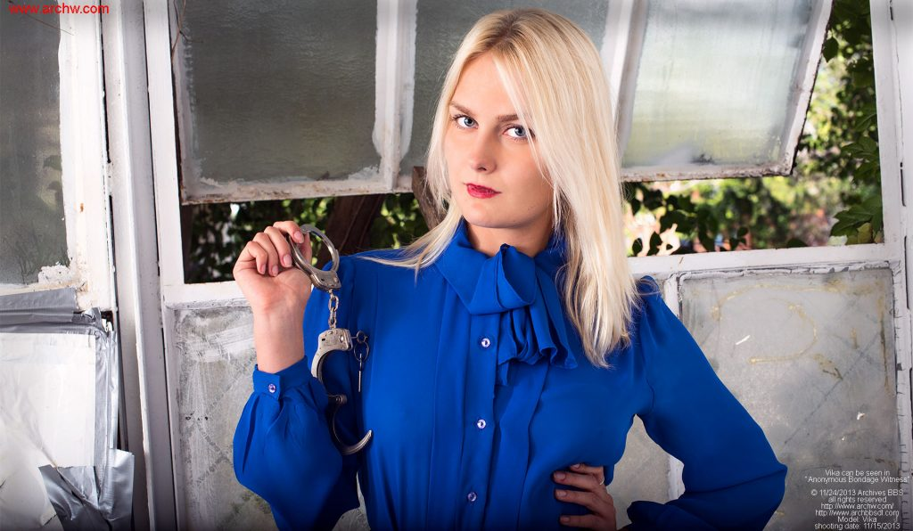 Vika has been deputized and now has handcuffs!