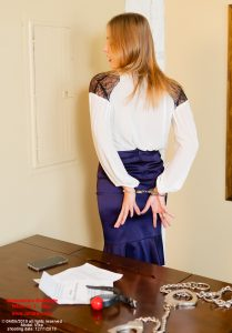 Vika in handcuffs